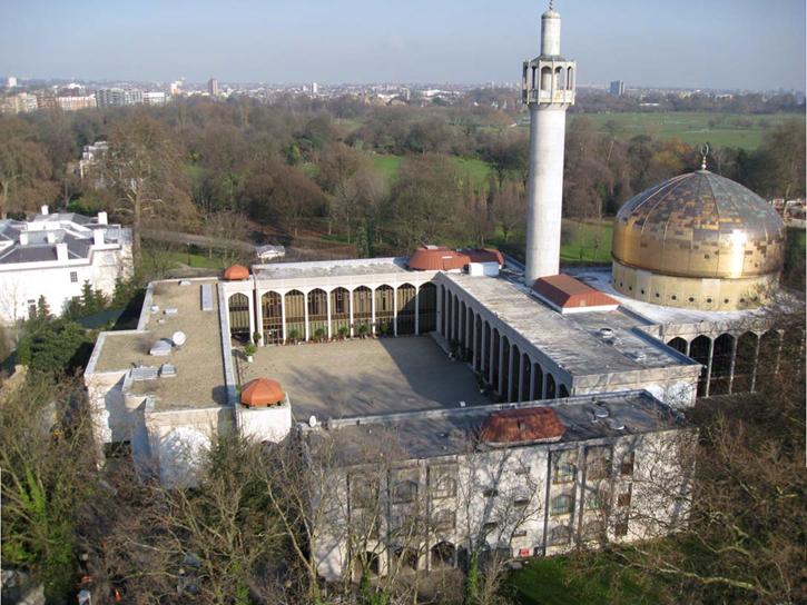 Image result for • Masjid Pusat London - Alamat: Masjid Regent's Park 146 Park Road Regent Park London NW8 7RG London UK