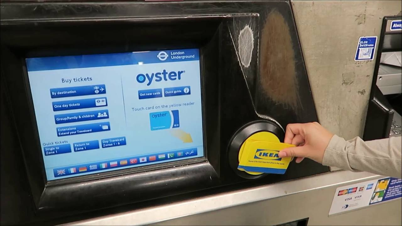 Image result for station tube in london with oyster card