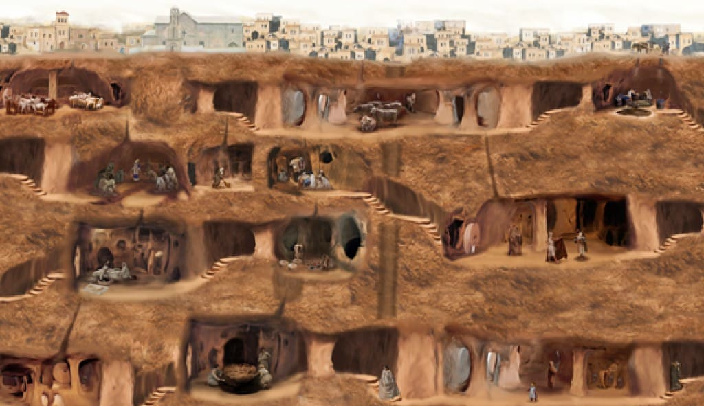 Image result for underground cities in cappadocia