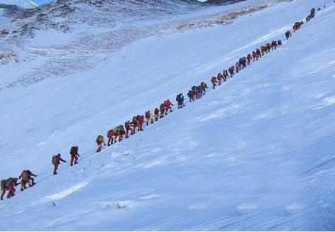 Crowds On Mt. Everest – Eight Summits