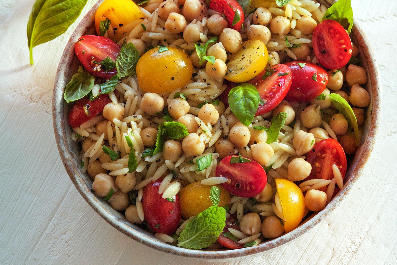 Orzo & Garbanzo Bean Salad - BRIANNAS Salad Dressings