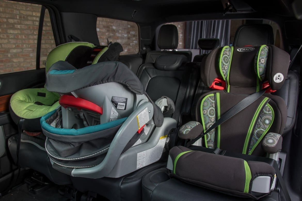 Which Cars Fit Three Car Seats? | News from Cars.com | Baby car seats, Car seats, Rear facing car seat